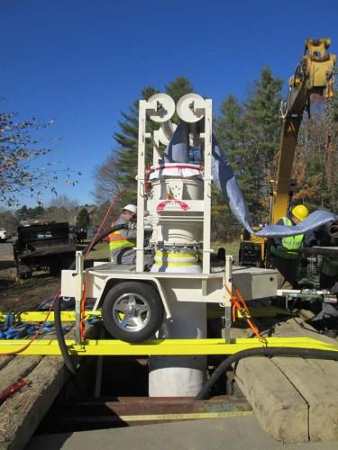 Rehabilitating sewer mains using Perma-Liner's  Perma-Main ™